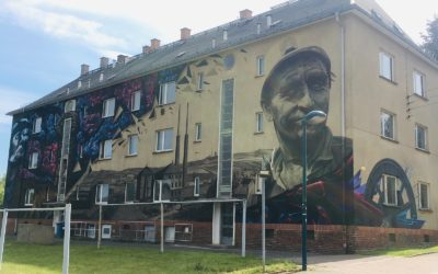 Graffiti-Kunstwerk in Oelsnitz